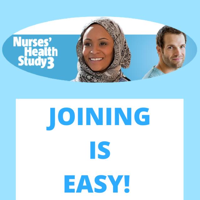 Nurses' Health Study 3 Seeks Volunteers