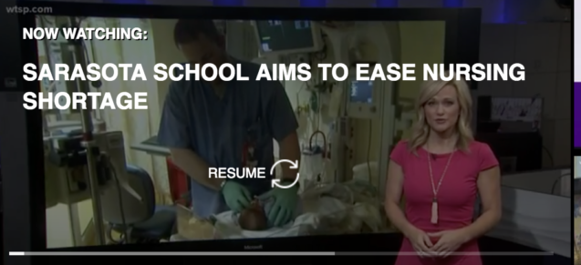 WTSP Channel 10 Coverage on Keiser University and the Nursing Shortage